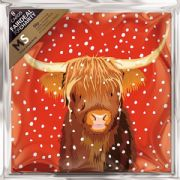 Multiple Sclerosis Trust Pack of 8 Highland Cow Charity Christmas Cards